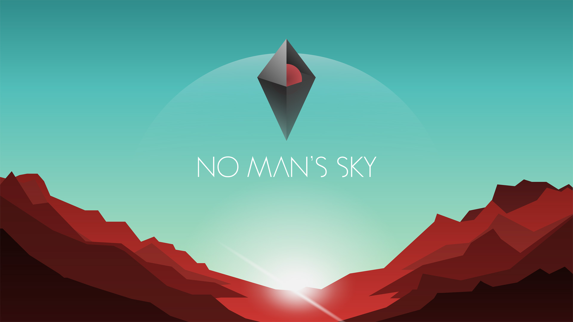 Rocky planet landscape Tapeta na pulpit No Man's Sky
