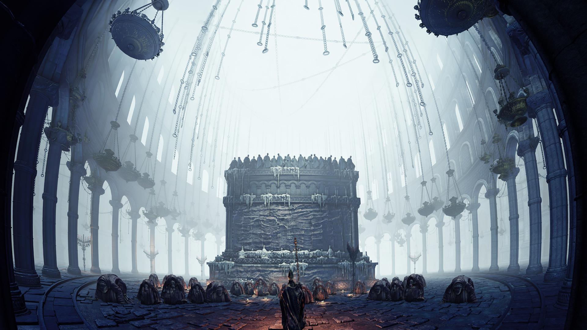 Dark Souls III - Oddając cześć. Tapeta na pulpit Dark Souls III
