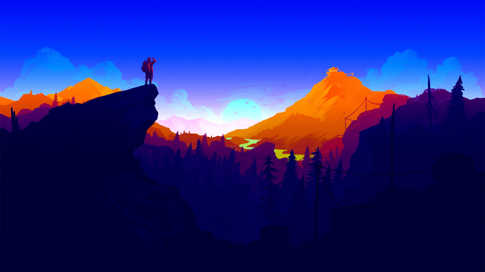 Watching the road Wallpaper from Firewatch