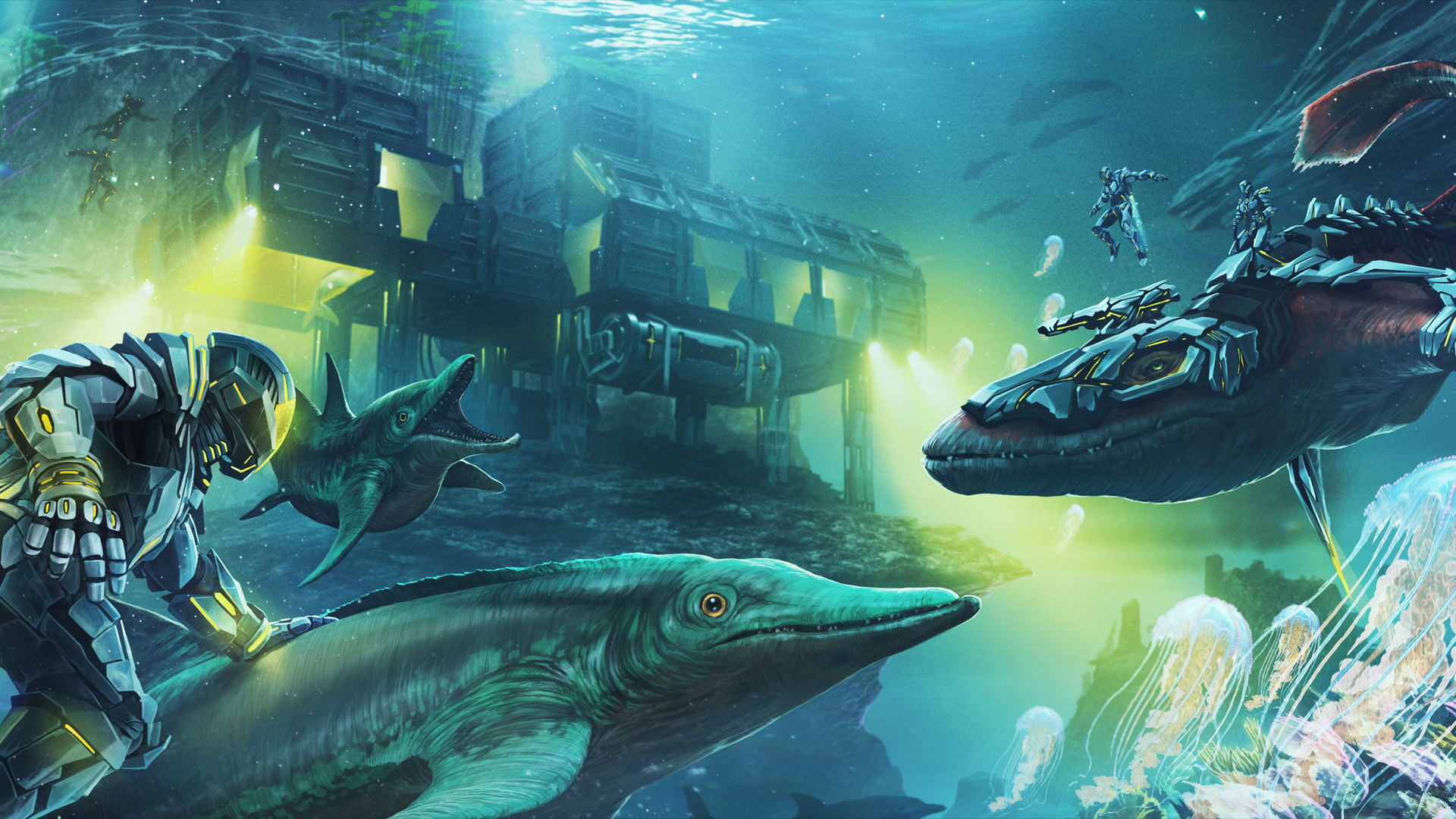 Underwater rivalry Tapeta na pulpit ARK: Survival Evolved