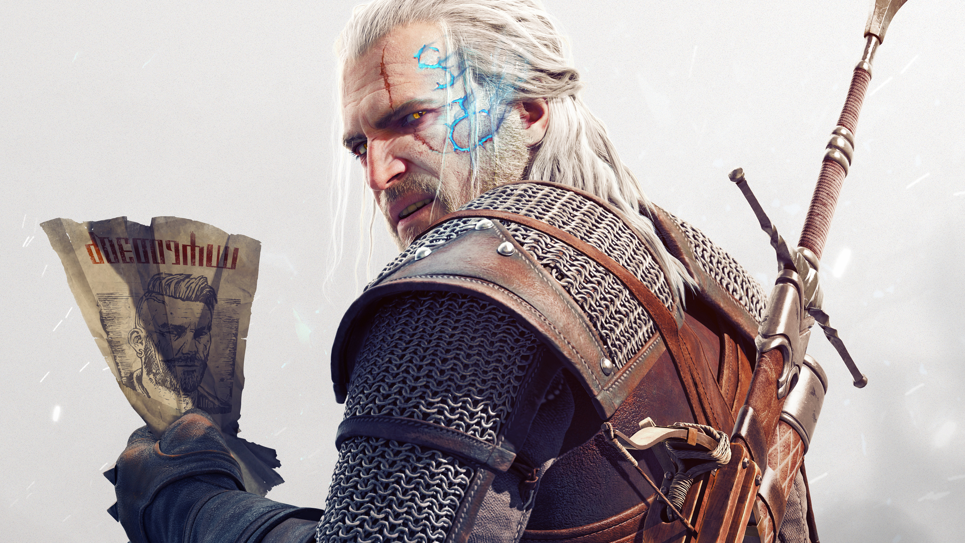 The Witcher 3: Wild Hunt - Geralt z listem gończym Tapeta na pulpit Wiedźmin 3: Dziki Gon