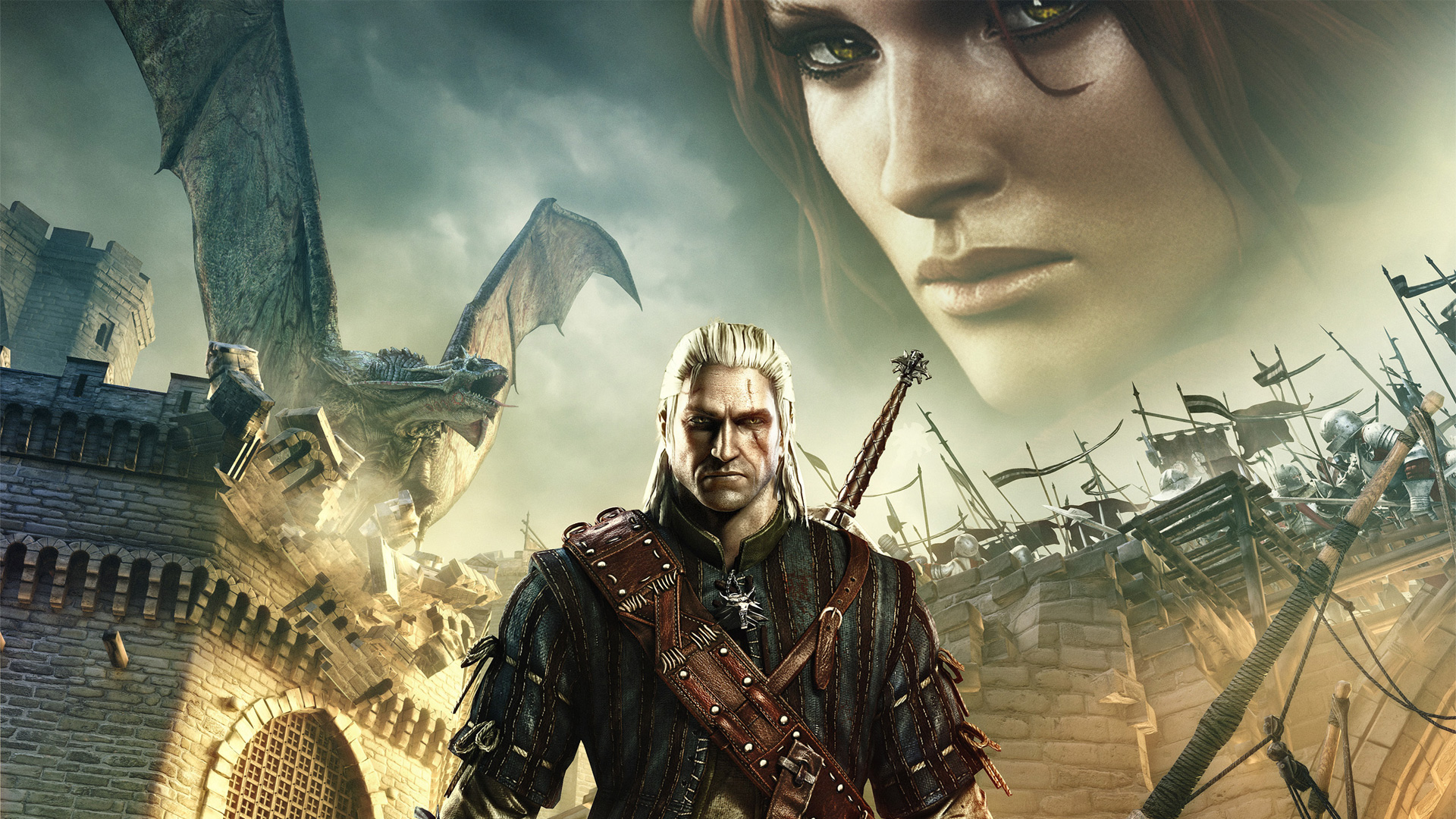Geralt and the siege Wallpaper from The Witcher 2: Assassins of Kings