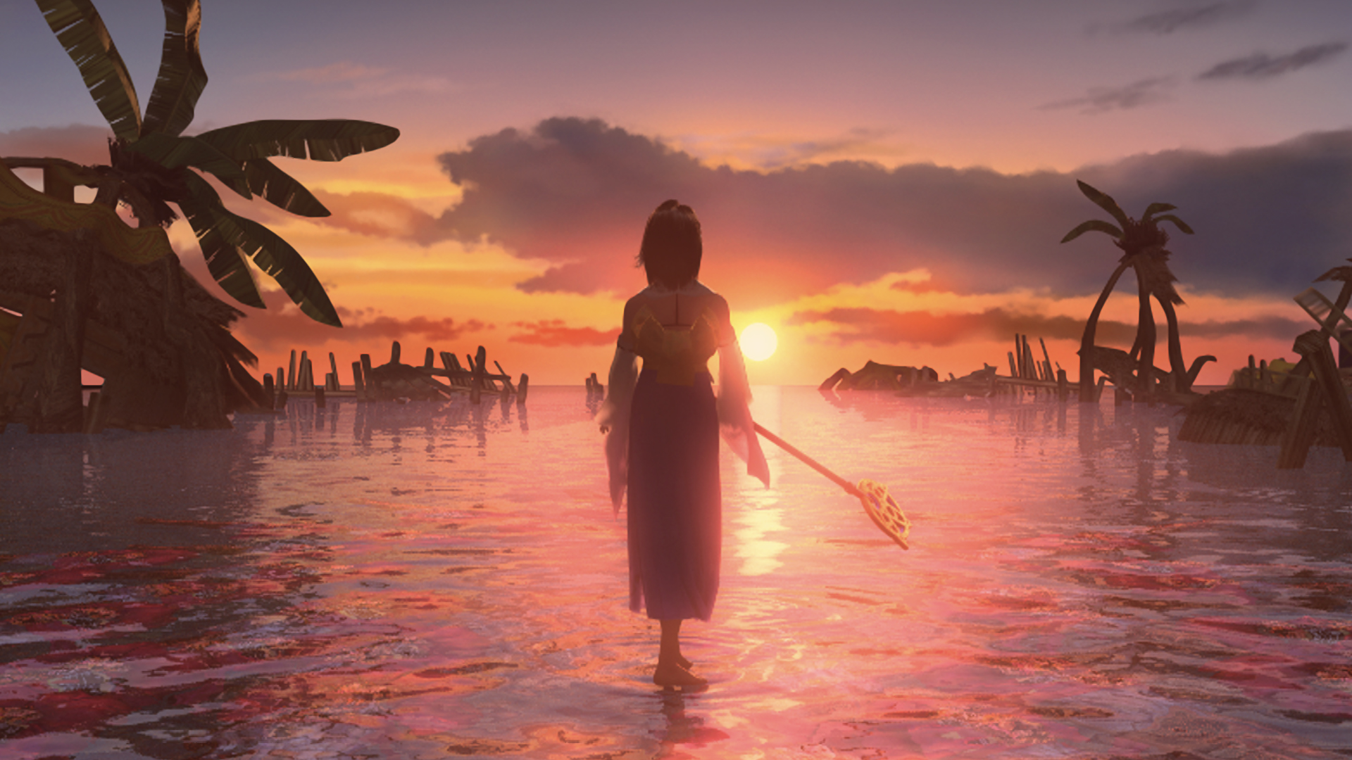 Yuna In Sunset Wallpaper From Final Fantasy X Hd Gamepressure Com